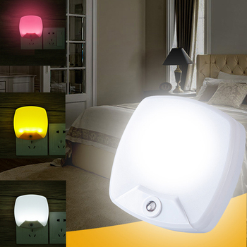 цена на AC Power Night Light Smart Led Sensor Light Control Baby Lamp Night Lights Wall Light Luminaria For Bedroom Babyroom Home Decor