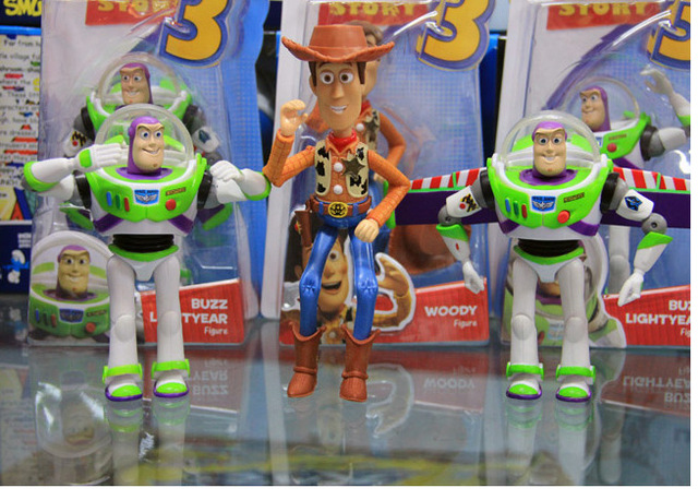 Toy Story Action Figures Set : Free shipping toy story woody sheriff buzz lightyear pvc
