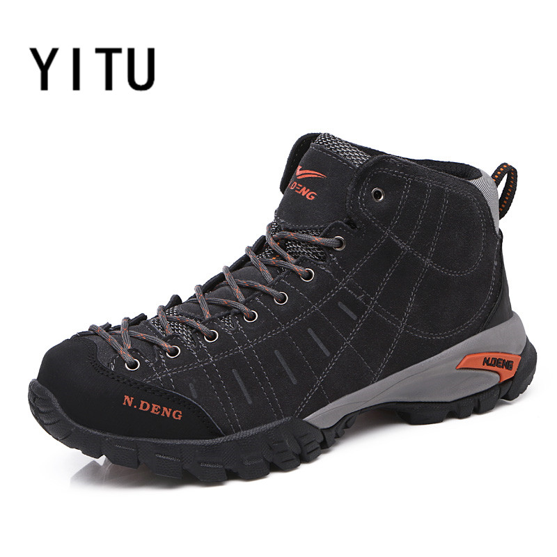 YITU Winter Plush Warm Comfortable Footwears Outdoor Trekking Tactical Outventure Sneakers Men Hiking Shoes Wear-resistant Shoes