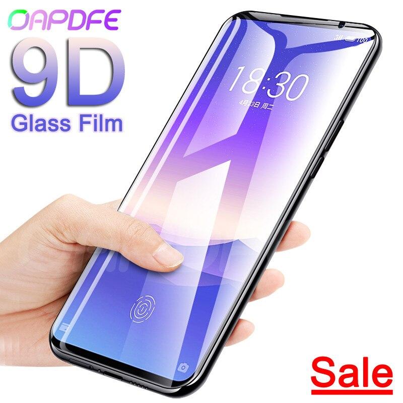 9D verre trempé de protection sur le pour Meizu 16 e 15 Lite Plus Meizu 16S 16X M15 X8 Note 8 9 étui de protection d'écran en verre