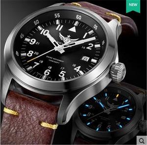 Image 5 - Часы Yelang Мужские кварцевые в стиле милитари, триций T100 Ronda Move t, литиевая батарея, авиаторы WR100M, сапфировые, из натуральной кожи