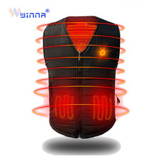 New Arrival USB Heating Vest Inter Clothes for Women Men Warm Thick Heated 3 Level Charging Thermal Size S-XXXL