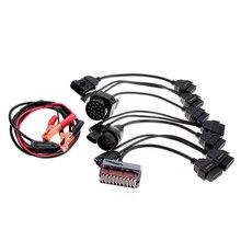 Heißer Verkauf 8 Teile/satz Professionelle Auto OBD2 Diagnoseschnittstelle Adapter Kabel 12 V Neue