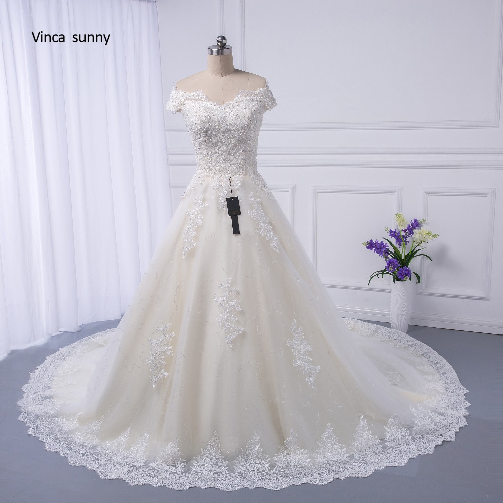 Classic Wedding Gowns 2018: Real Pictures Ball Gown Bridal Dress Vintage Muslim Plus