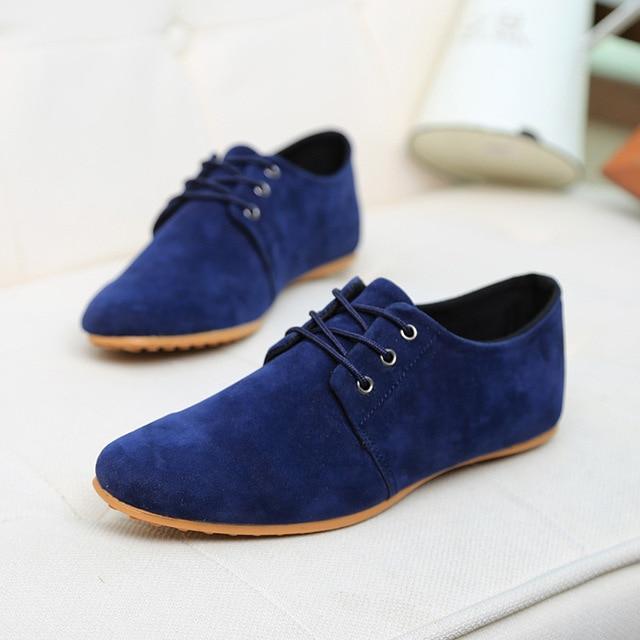 2016 Hombres Zapatos de Cuero Genuino Zapatos de Los Planos Botas de Moda Zapatos Oxford Casual Zapatos de Vestir de Boda Zapatos Hombre Grande Tamaño