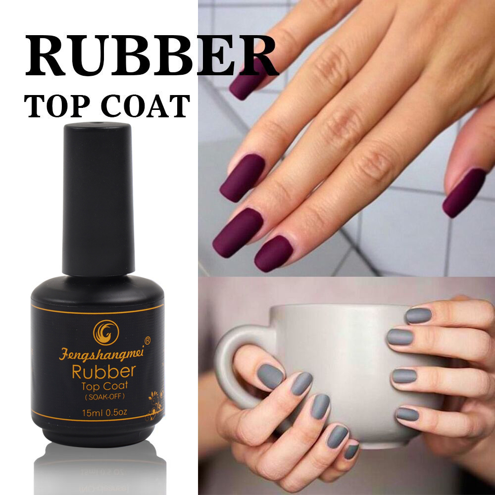 Fengshangmei 15ml No Wipe Soft Matte Top Gel Varnish Uv Led Quick Dry Rubber Coat Nail Polish In From Beauty Health On Aliexpress