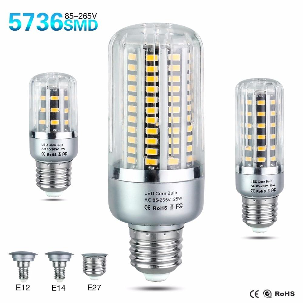 led e27 e14 e12 ac 85265v bulb lamp smd 5w 10w 15w 20w
