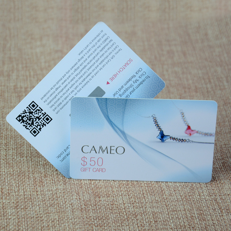 Top sale custom printing plastic pvc scratch gift cards-in Business ...