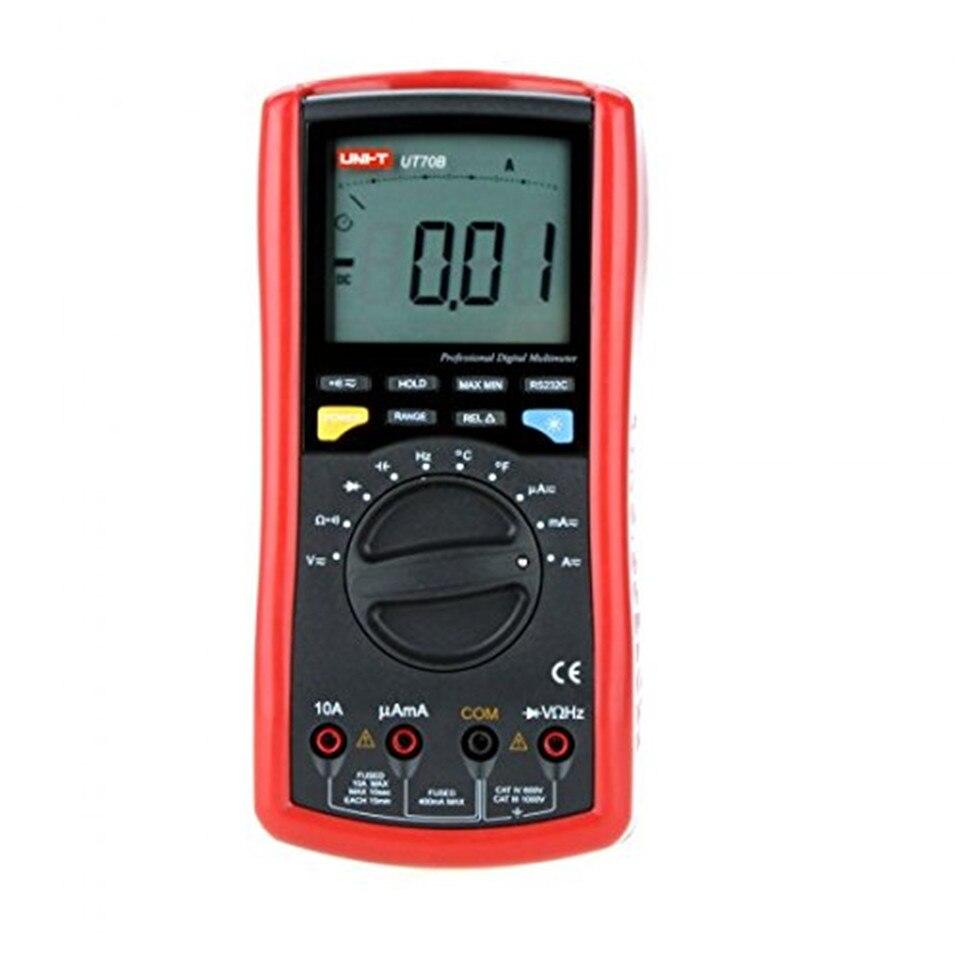 Original UNI-T UT70B LCD Digital Multimeter Auto Range frequency conductance logic test transistor temperature analog display uni t ut118a original lcd digital multimeter