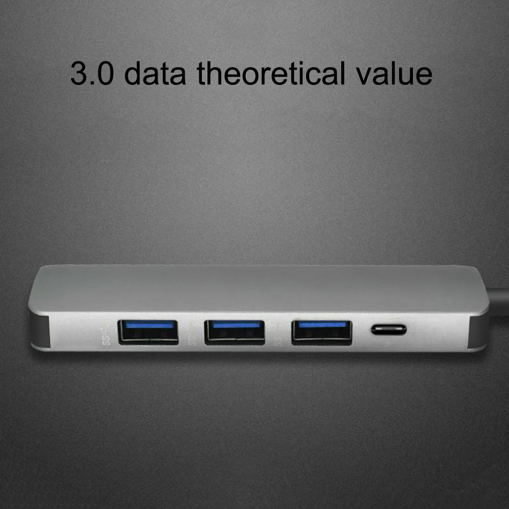 Image 5 - 5 in 1 USB Type C Hub Hdmi PD Power Delivery Port 4 USB 3.0 Ports USB C Hub Adapter for Mac book Pro Thunderbolt USB C HUB-in USB Hubs from Computer & Office