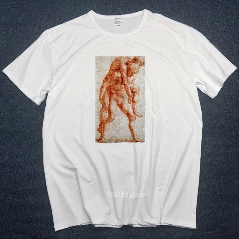 Футболки микеланжело мужские футболки Harajuku забавная Мужская футболка с рисунком хип-хоп Хлопок Уличная футболка Футболки Топы Homme s-3L - Цвет: CA068i