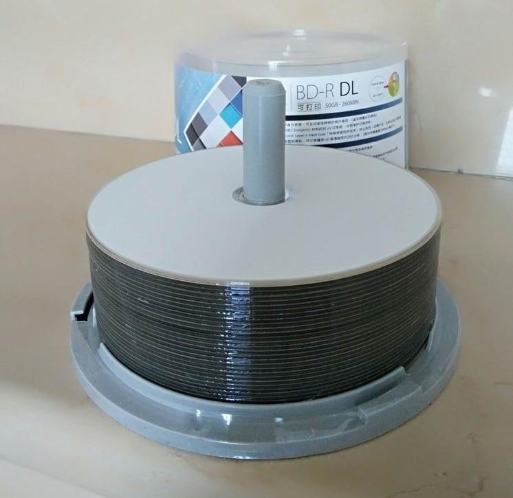Blank Disks AnpassungsfäHig Freies Verschiffen Blue Ray Disc Bd-r 50 Gb Blu-ray-dvd-brenner Bdr 50g Inkjet Printable 6x50 Paket Computer & Büro