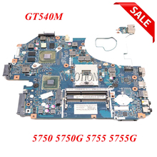 NOKOTION MBRCG02006 MBRCG02007 P5WE0 LA 6901P Laptop motherboard for Acer Aspire 5750 5750G MB.RCG02.006 DDR3 GT540M Full Tested