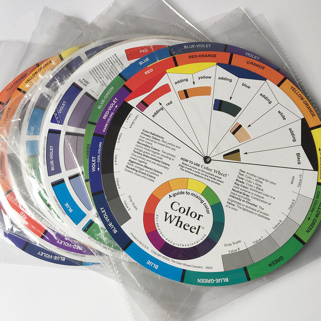 Free Shipping 10 Pcs Permanent Makeup Tattoo Accessories Color Wheel