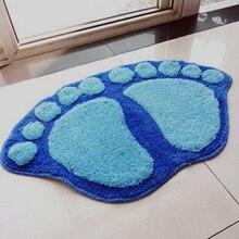 1 unids nueva encantadora acuden alfombra en la sala de pie almohadilla antideslizante porche/baño/dormitorio/cocina room carpet mat puerta alfombras de piso