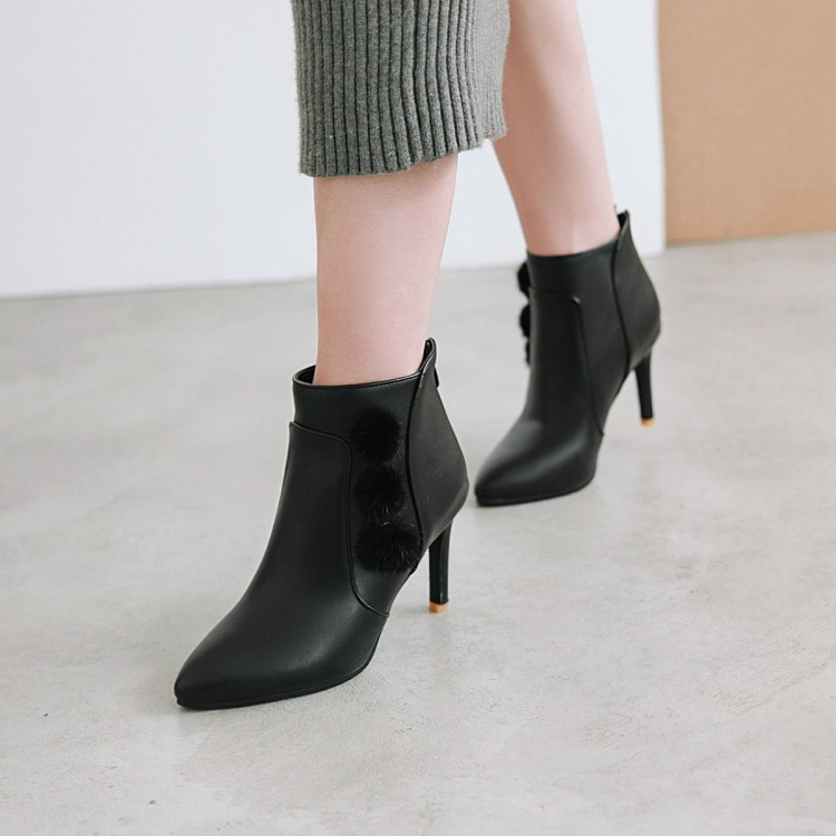Big Size 11 12 13 14  15 16 17         Maam  Short boots     Pure color    Pointed   Boot barrel     High heel bootsBig Size 11 12 13 14  15 16 17         Maam  Short boots     Pure color    Pointed   Boot barrel     High heel boots