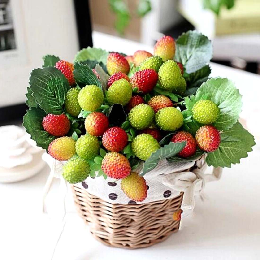 Popular artificial strawberry plants buy cheap artificial for Artificial cherries decoration