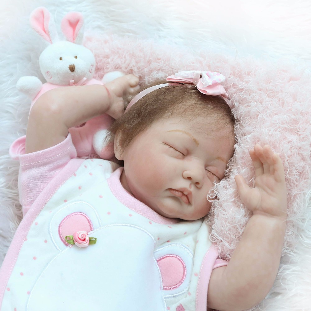 Hot Sale Reborn Baby Dolls Realistic 22inch sleeping girl Dolls Alive lifelike bebe adorable high quality Toy For kids GiftHot Sale Reborn Baby Dolls Realistic 22inch sleeping girl Dolls Alive lifelike bebe adorable high quality Toy For kids Gift