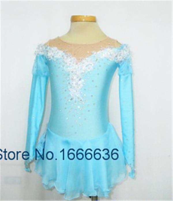 Light blue ice skating dresses