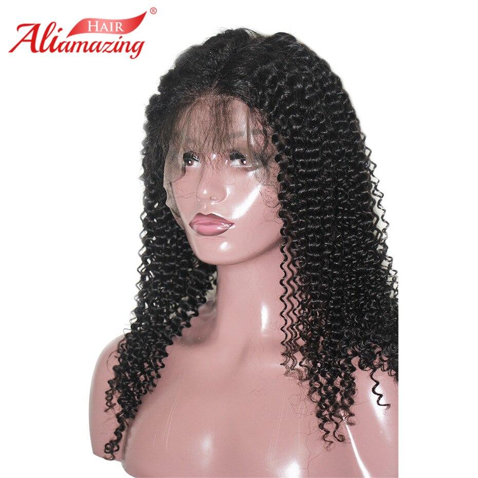 Али удивительные волосы Синтетические волосы на кружеве человеческих волос парики 350% плотность предварительно сорвал волосяного покрова
