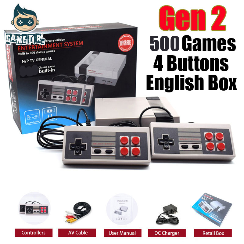 Mini Family TV Handheld Classic Retro Game Console Video Game Console For Nes Games with 500