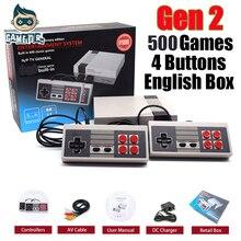 Мини Семья ТВ ручной классический ретро игровой консоли для ne игры с 500 различных Встроенные игры в английский