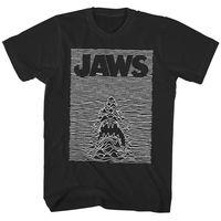 Jaws Shark Joy Division Parody Men's T Shirt Movie Poster Black Ocean Waves BiteHigh quality Men T shirt Casual Short sleeve