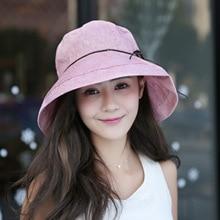 Women Beach Korean Style Hats Visors Cap Curling Gorro Foldable Floppy Hat Summer Uv Sun