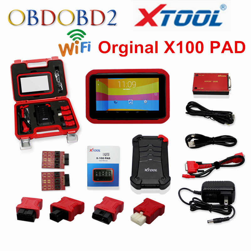 Original X-100 PAD XTOOL X100 PAD Auto Key Programmer Update Online X 100 Pad Update Online EEPROM Adapter Same As X300 DHL Free