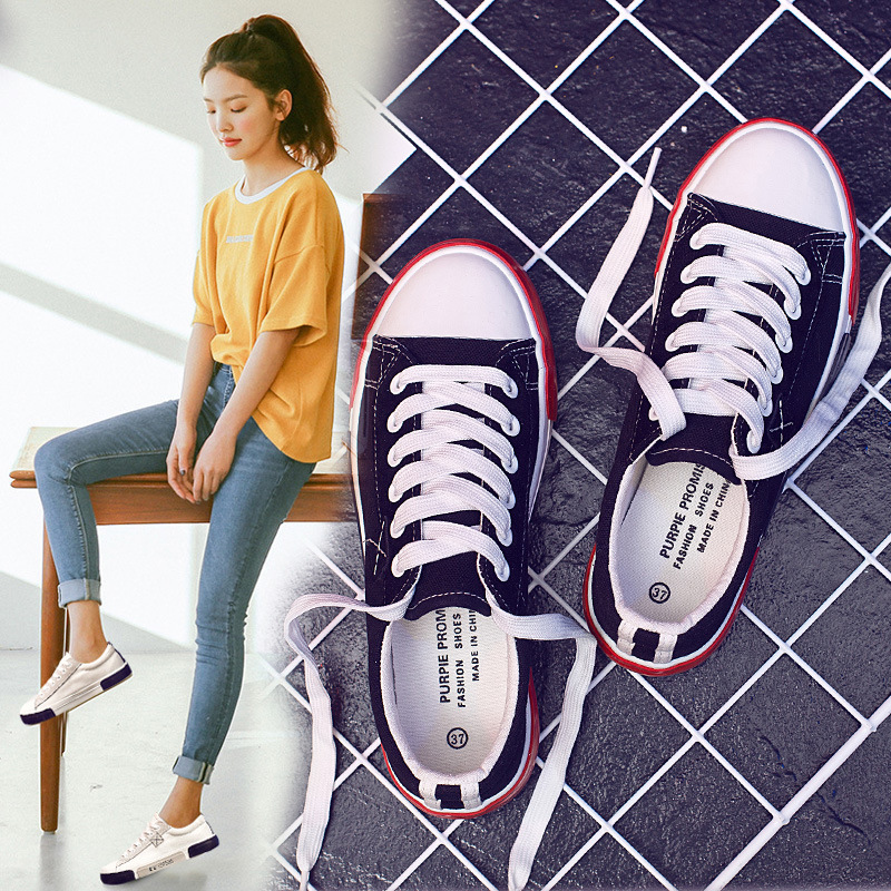 Shoe Woman 2018 Spring Summer New Pattern Student Skate Original Old Flat Leisure Time The Wind Hong Kong Small Shoes