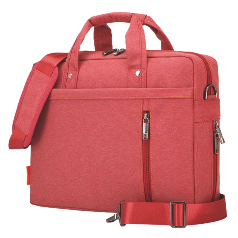 Laptop bag 13 inch Shockproof airbag waterproof computer bag men and women luxury thick Notebook bag Red