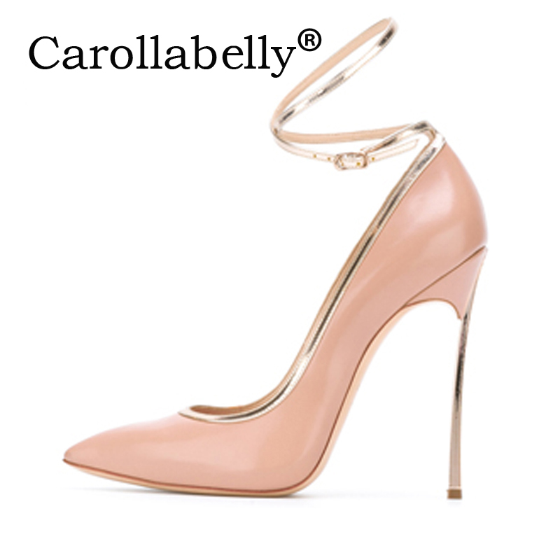 Carollabelly Brand Women Sexy High Heels Fashion Pumps New Summer Shoes Ankle Strap Wedding Shoes High