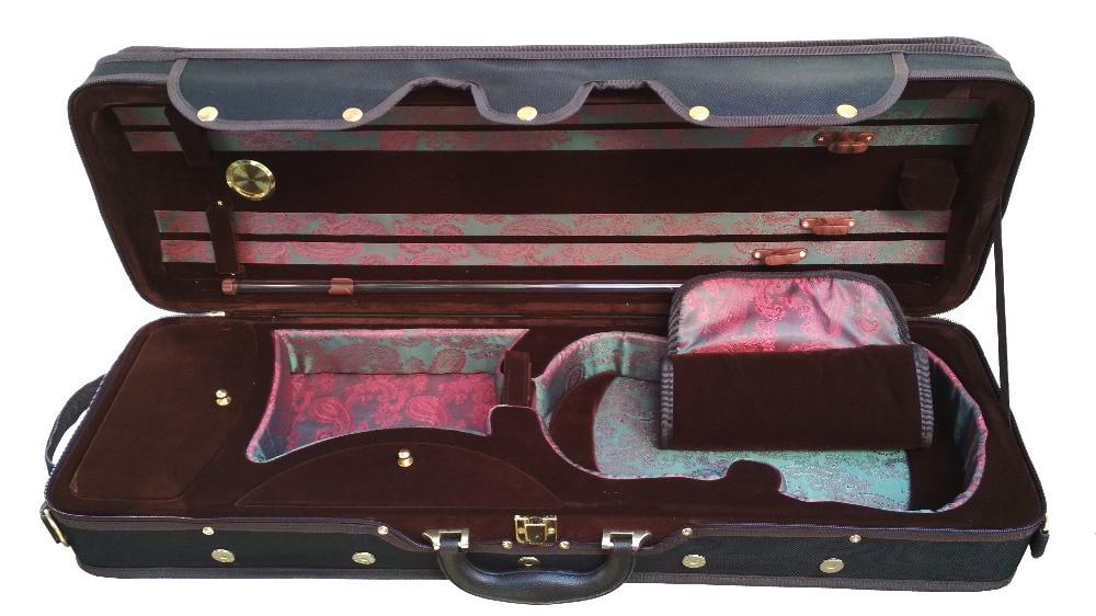 Violin Foam Case Coffee Color & Red Phoenix Silk Hygrometer FPH109