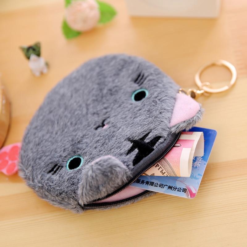 500pcs/lot Women Plush Bags Girls Cartoon Cat Coin Purse Children Wallet Case Bag Kids Christmas Party Present