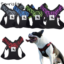 купить No pull Sport Reflective Dog Harness For Small Medium Large Dog Safety Adjustable Training Pet Pitbull Dog Chest Vest Harnesses по цене 448.1 рублей