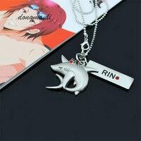 M3334 Hot Anime Iwatobi Swim Club Cosplay RIN shark crown necklace pendant   Charm Jewelry Trendy Gift jewelry accessories