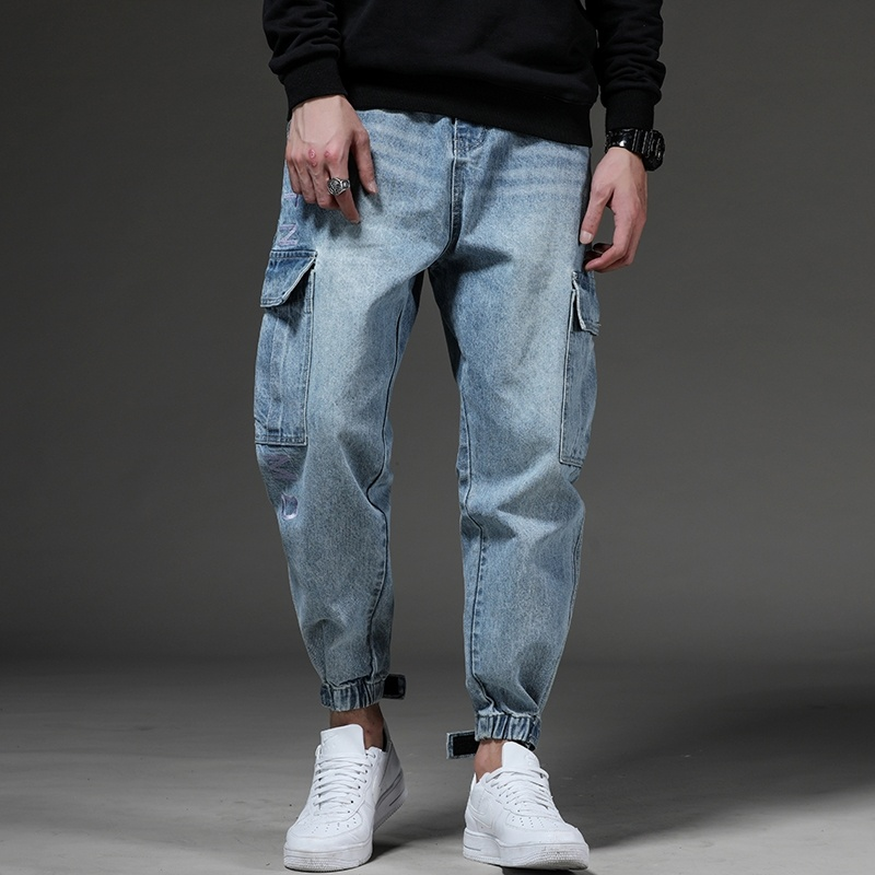 Jeans Men Slim Fit Jeans Fashion Summer New Hallen Casual Pants Jeans For Men