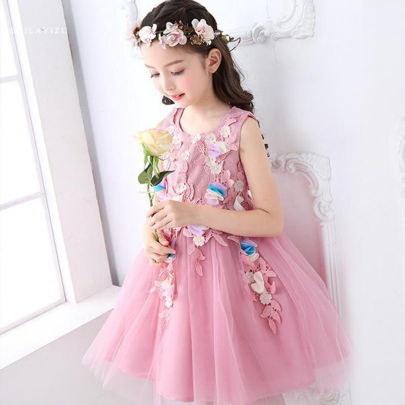 Подробнее о Summer 2017 New Girl Dress Baby Princess Tutu Dresses Flower Girls Dresses For Party And Wedding Kids Clothes Ropa De Ninas 9 14 flower girl dresses for kids new girls summer full dress for party and wedding teenagers sundress fancy clothes princess costume