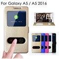 A5 de alta qualidade tampa do caso da aleta para samsung galaxy a5 2016 A500 A510 de Couro Sacos de Telefone Casos com a Função de Suporte de Um 5 cobre