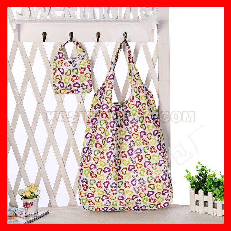 água nylon sacola reutilizável sacos de compras das mulheres