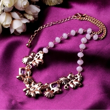 Free shipping! Luxury crystal jewelry plated water drop daisy star statement necklace Imitation diomands populars party jewelry