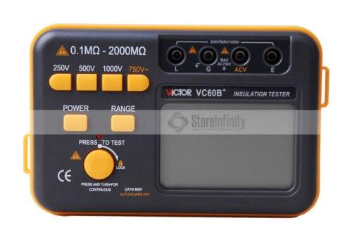 VC60B + оригинальный цифровой тестер изоляции мегомметром Мегаомметр RUOSHUI 60B +