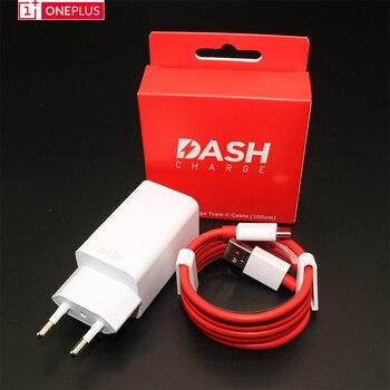 Original ONEPLUS 5 T Dash Charger one plus 5 3 t 3 สมาร์ทโฟน 5 V/4A usb wall travel อะแดปเตอร์ USb 3.1 ประเภท C สาย