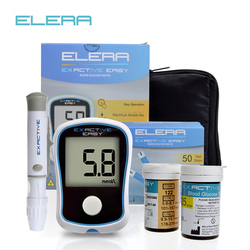 ELERA Blood Glucose Meters Diabetics Test glycuresis Monitor blood Glucometer medidor de glicose 50 Strips +50 Needles