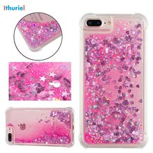 Ithuriel For iPhone 5 5s SE X 8 7 6 6S Plus Case Quicksand Flashing Flowing TPU Phone Back Cover Cases