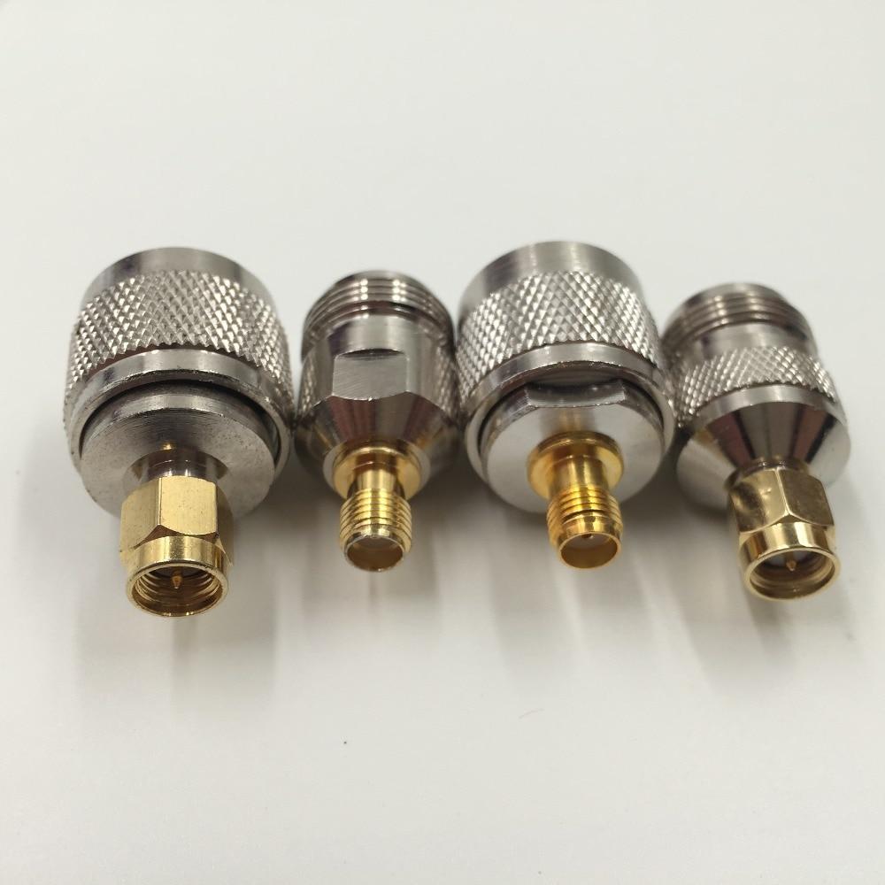 Kit Adapter 4pcs/set N to SMA type male female RF connector Test converter kit adapter 4pcs set n to rp sma type male female rf connector test converter