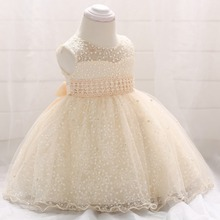 2019 Summer Vestido Infantil New Born Baptism Dress Frocks Baby Girl Pageant Princess 1st Birthday Party 6-24 Month