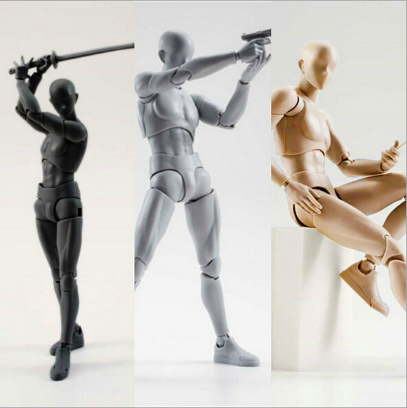 NEW hot 15cm Archetype He Archetype She Ferrite SHFiguarts BODY KUN BODY CHAN Ver action figure toy collector Christmas with box 10 style 3d body chan body kun figure pale gray color figma shfiguarts ferrite pvc action figures