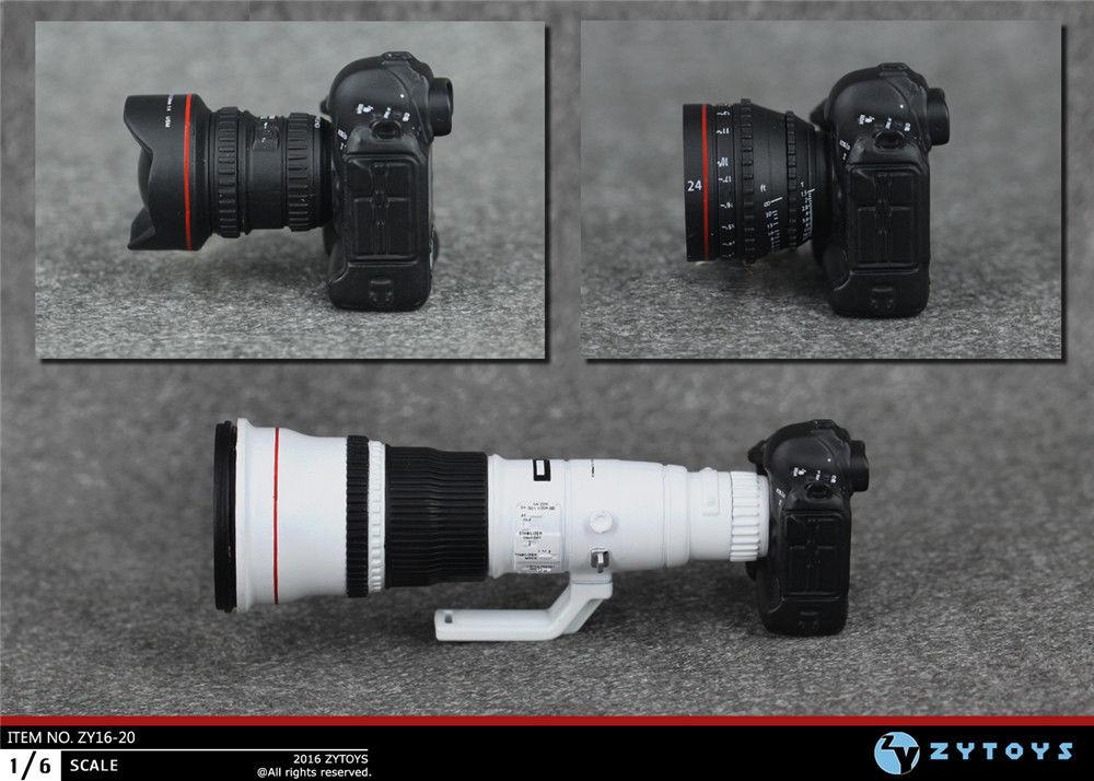 1/6 Весы цифровой зеркальной Камера SET модель для 12 фигурку куклы zy16-20