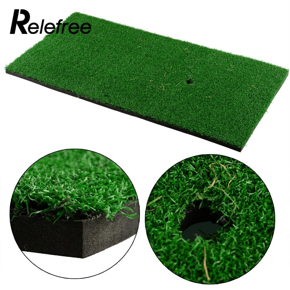 Relefree Backyard Golf Mat 60x30cm Training Hitting Pad Practice Rubber Tee Holder Grass Indoor